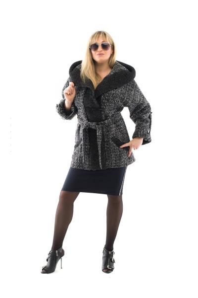 Пальто женское весеннее меланжевое MILANA