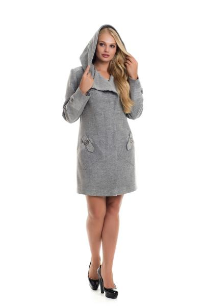 Пальто женское осень-весна «DELFI» (цвет серый)