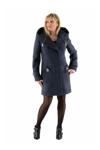 Пальто женское осень-весна «DELFI» (цвет джинса)