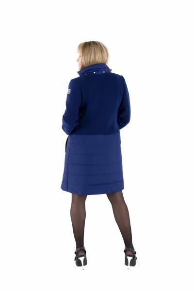 Пальто комбинированное женское осень-весна «ODRI» (цвет сапфир)