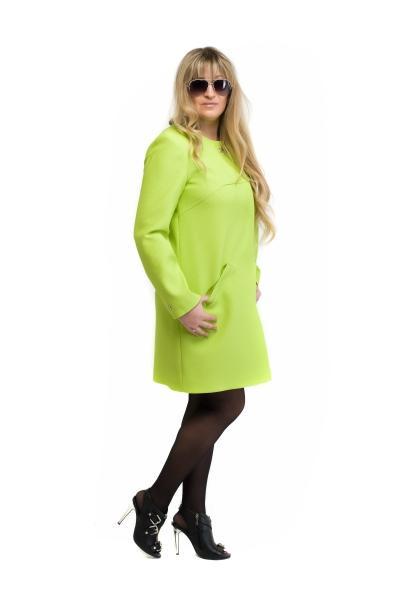 Женский плащ — кардиган  SHARLOTA (цвет салатовый)