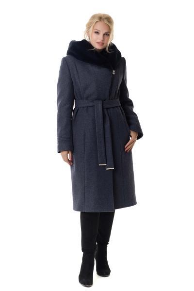 Пальто жіноче зимове ARIANDA (колір джинса)