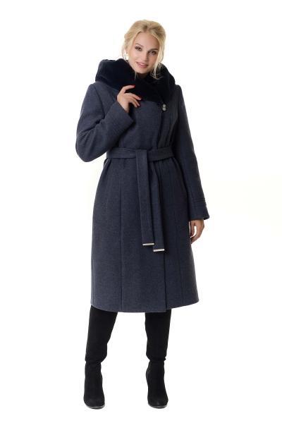 Пальто женское зимнее ARIANDA (цвет джинса)