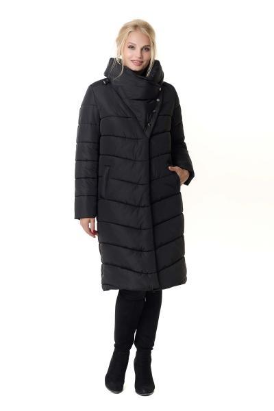Пуховик женский зимний на силиконе PATRICIA (цвет черный)