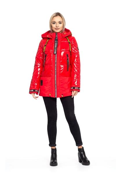 Куртка жіноча зимова OFF WHITE (колір червоний)