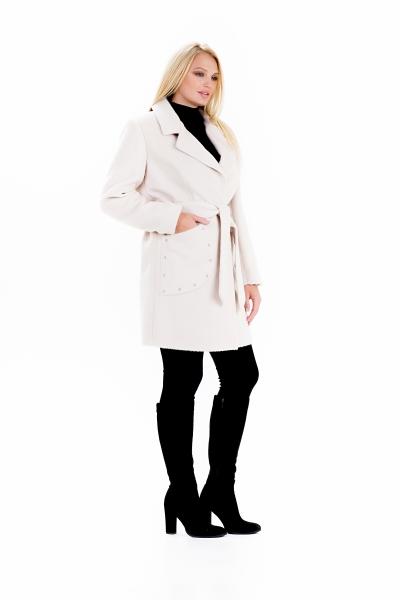 """Пальто женское весеннее с поясом """"ALPAKA"""" (цвет бежевый)"""