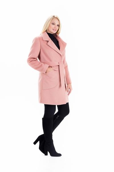 """Пальто женское весеннее с поясом """"ALPAKA"""" (цвет терракотовый)"""