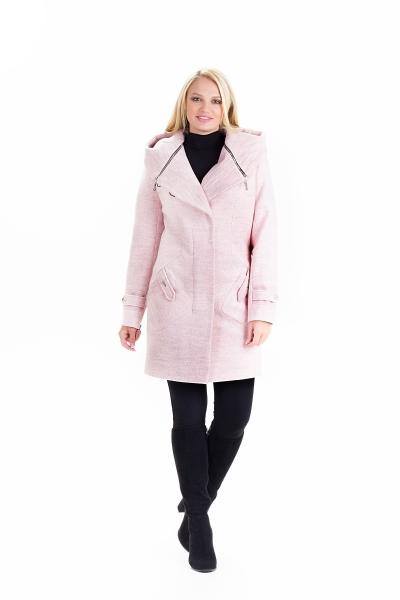 """Пальто жіноче осінь-весна """"DELFI» (колір пудра)"""