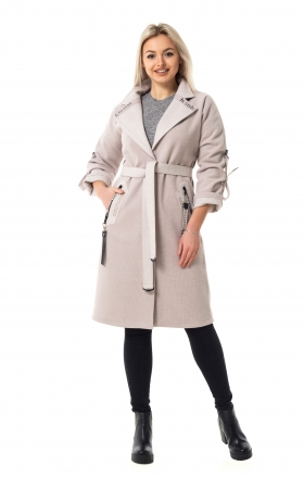 Женское пальто LUCKY цвет пудра