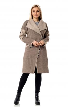 Женское пальто — кардиган MAIN'STREAM цвет capuchino