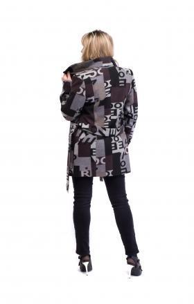 Пальто женское весеннее с абстракционным дизайном SILVIA