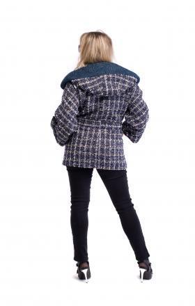 Пальто женское весеннее синее MILANA