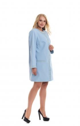 Жіночий весняний плащ-кардиган Gizelle (клір блакитний)