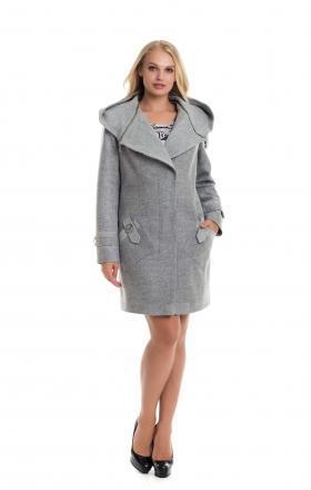 """Пальто жіноче осінь-весна """"DELFI» (колір сірий)"""