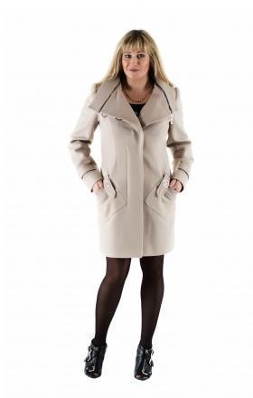 """Пальто жіноче осінь-весна """"DELFI» (колір бежевий)"""