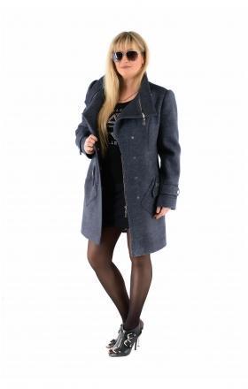"""Пальто жіноче осінь-весна """"DELFI» (колір джинса)"""