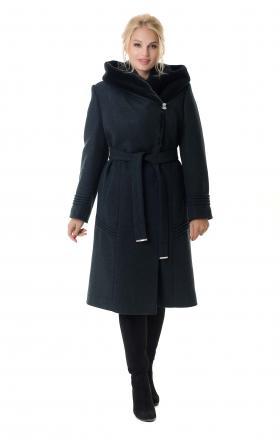 Пальто женское зимнее ARIANDA (цвет мурена)