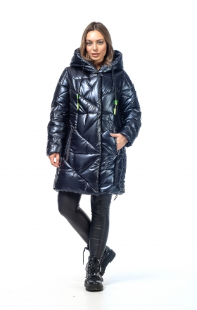 Women's winter jacket VOGUE (color dark blue)