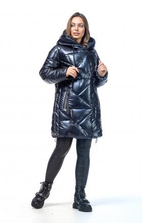 Куртка жіноча зимова VOGUE (колір темно-синій)