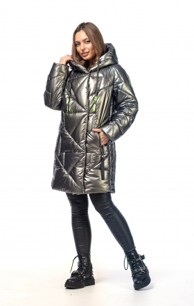 Women's winter jacket VOGUE (steel color)