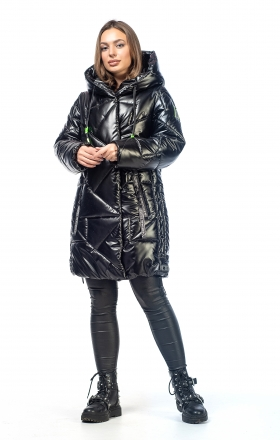 Women's winter jacket VOGUE (black color)