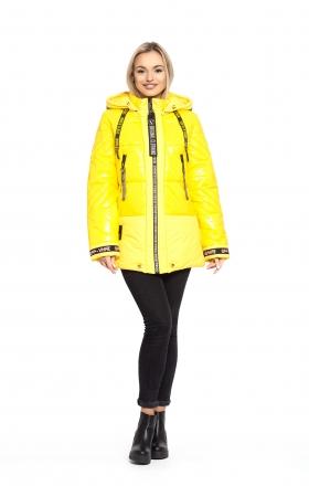 Куртка женская зимняя OFF WHITE (цвет желтый)