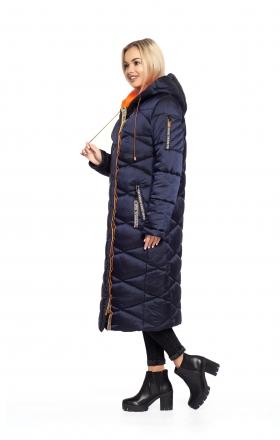Пальто женское зимнее BLER (цвет синий)
