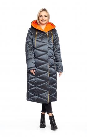 Пальто женское зимнее BLER (цвет графитовый)