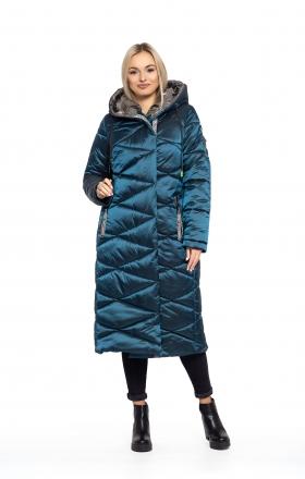 Пальто женское зимнее BLER (цвет морска волна)