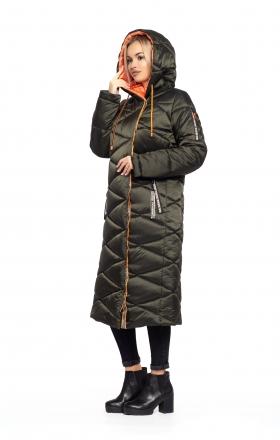 Пальто женское зимнее BLER (цвет хаки)