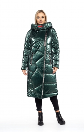 Women's winter coat DAKOTA OFF (emerald color)