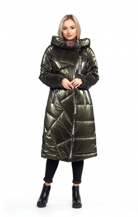 Пальто женское зимнее DAKOTA OFF (цвет хаки)