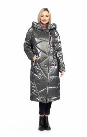 Women's winter coat DAKOTA OFF (gray color)