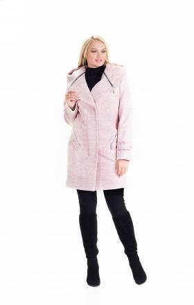 Пальто женское осень-весна «DELFI» (цвет пудра)