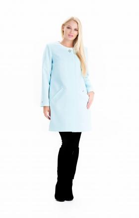 Жіночий плащ - кардиган SHARLOTA (колір бірюзовий)
