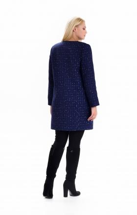 Жіночий весняний плащ - кардиган SHARLOTA колір синій