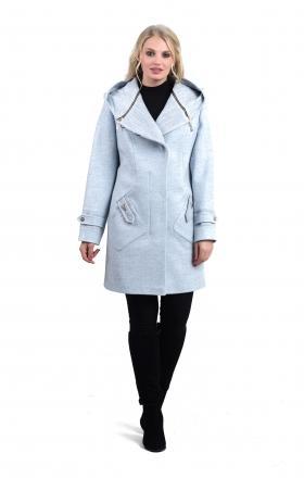 """Пальто жіноче осінь-весна """"DELFI» (колір блакитний)"""