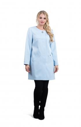 Жіночий плащ - кардиган SHARLOTA (колір блакитний)