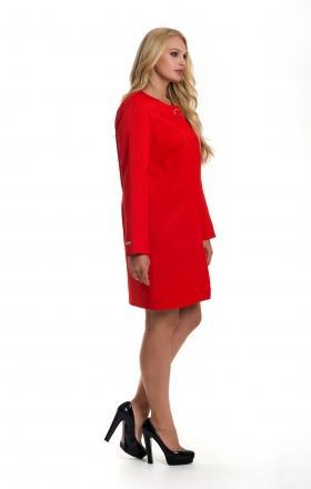 Женский красный плащ — кардиган с волнистым дизайном SHARLOTA