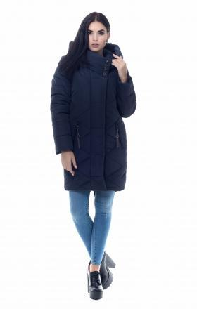 Women's down jacket with silicone MELLISA (dark blue)