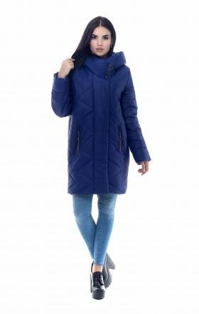 Women's down jacket with silicone MELISSA (cobalt color)