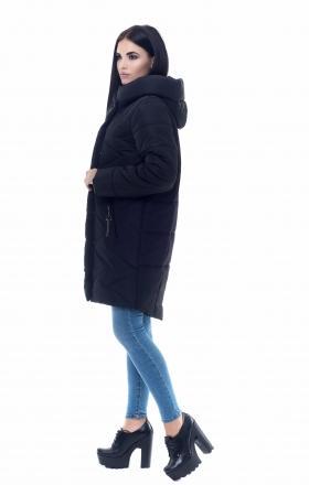 Пуховик женский на силиконе MELLISA ( чёрный )