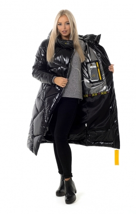 Пальто женское зимнее DAKOTA OFF (цвет черный)