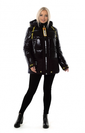 Women's winter jacket OFF WHITE (black color)