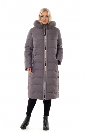 Down jacket winter BETTY UPG (dark beige)