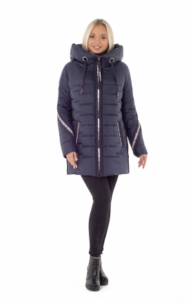 Women's winter jacket YO00003 (blue)