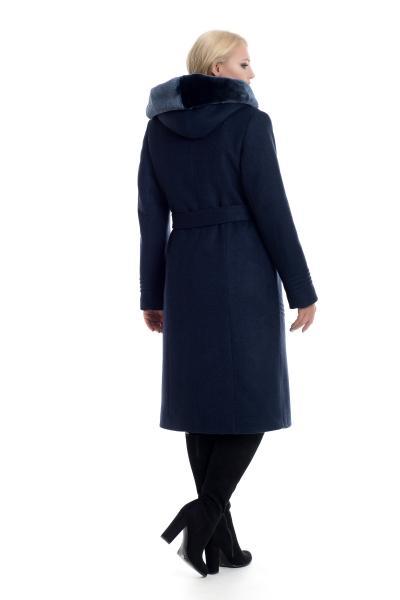 Пальто женское зимнее ARIANDA (цвет т.синий)