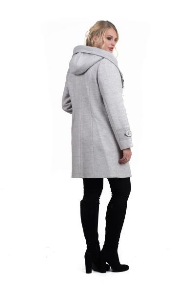 """Пальто жіноче осінь-весна """"DELFI» (колір платина)"""