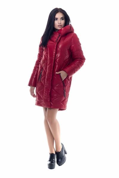 Пуховик женский на силиконе MELLISA ( красный )