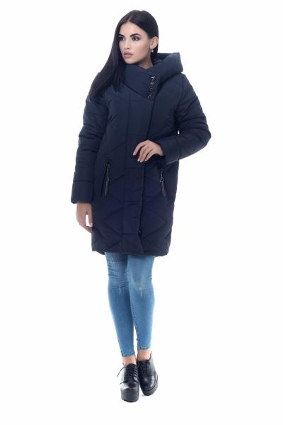 Пуховик женский на силиконе MELLISA ( тёмно-синий )